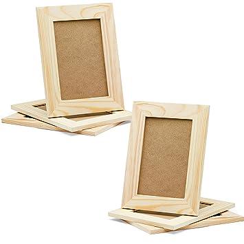 Amazon Com Diy Picture Frames 4x6 Craft Frames Set Unfinished