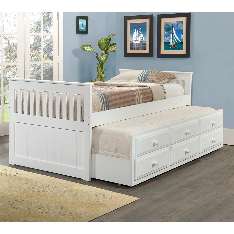 Amazon.com: Donco Kids 503 Light Espresso Roll Out Trundle Bed, Light  Espresso: Kitchen U0026 Dining