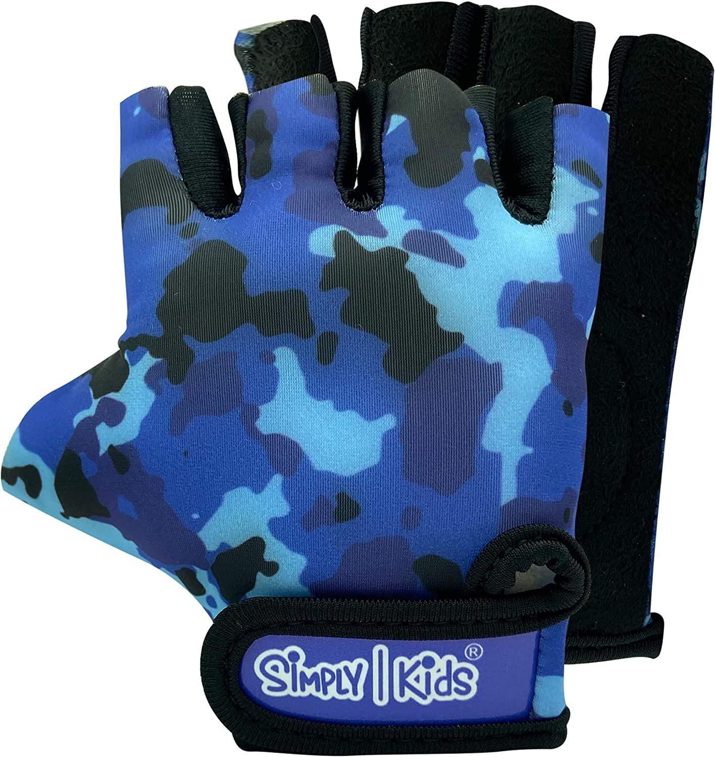 Kids Bike Gloves for Balanced Bike Mountain Bicycle Biking I Breathable Fingerless Toddler Kids Cycling Gloves with Extra Protective Cushions I CPSIA Certified Riding Gloves for Girl Boy Child Youth
