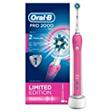 Oral-B Pro 2000 Crossaction Electric Rechargeable Toothbrush Powered by Braun - Pink - Ships with a UK 2 pin plug