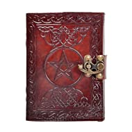 a0e2f0f7de809f New Pentagram Leather Journal Geniune Handmade Pentacle Wicca Witch Craft  Spell Book Celtic Notebook   Blank