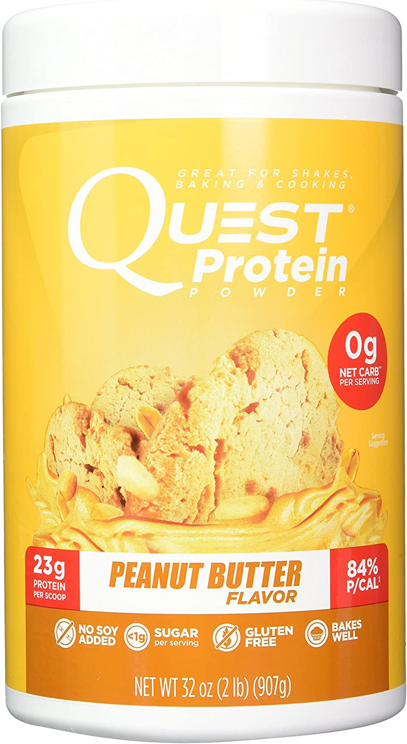 Quest Nutrition Peanut Butter Protein Powder, High Protein, Low Carb, Gluten Free, Soy Free, 2 Pound