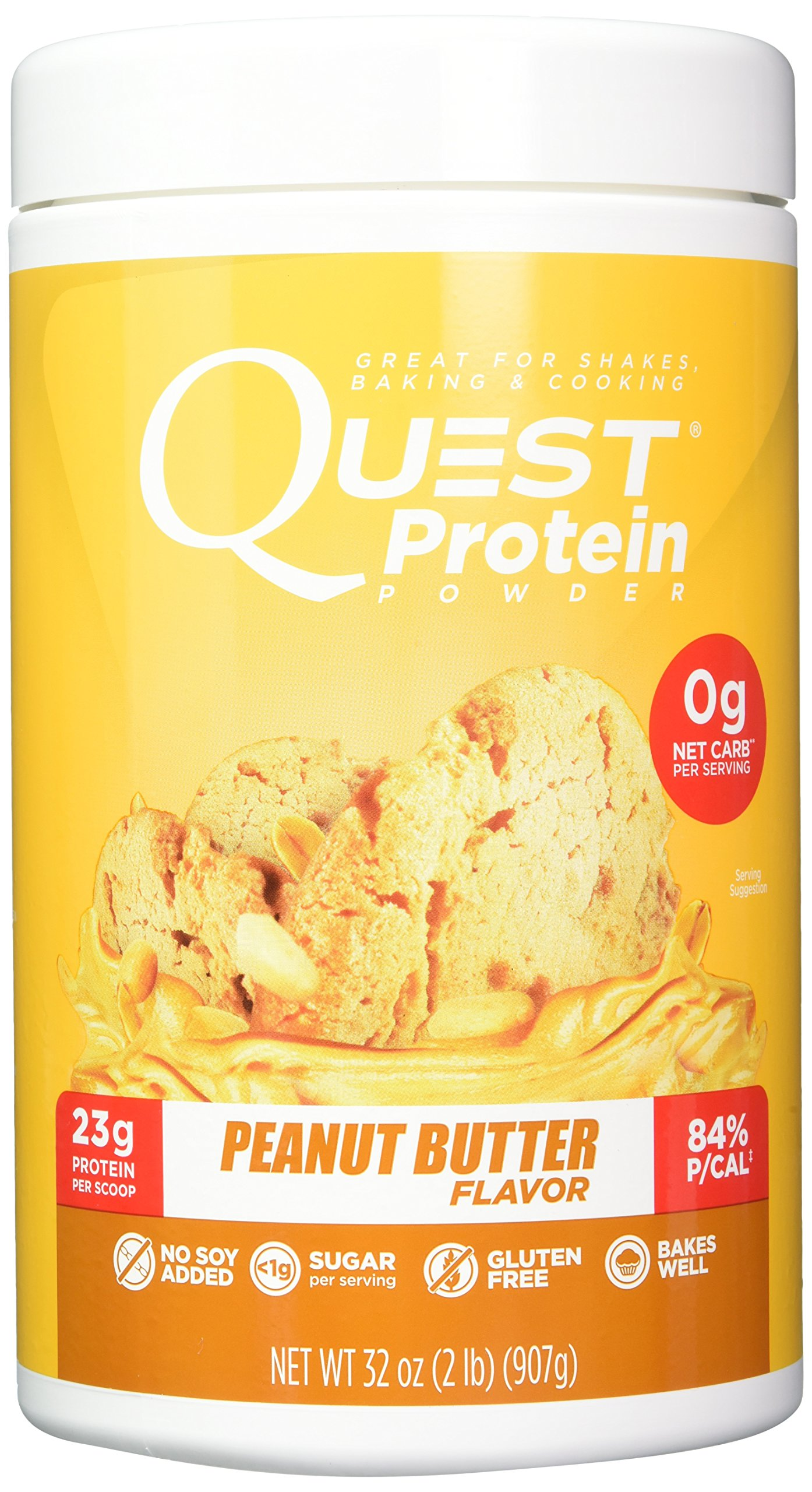 Quest Nutrition Peanut Butter Protein Powder, High Protein, Low Carb, Gluten Free, Soy Free, 2 Pound by Quest Nutrition