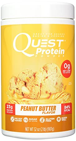 Quest Nutrition Peanut Butter Protein Powder, High Protein, Low Carb, Gluten Free, Soy Free, 2LB
