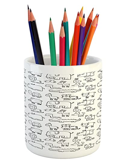 Amazon.com: Ambesonne Nursery Pencil Pen Holder, Wild ...