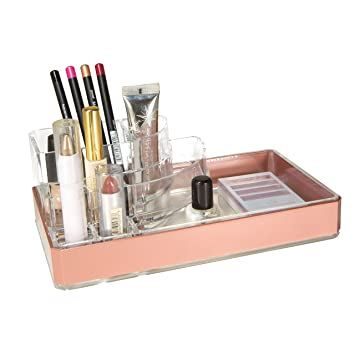 Amazon.com: Simplify 8 Section Cosmetic and Jewelry Makeup Organizer in Rose Gold: Home & Kitchen
