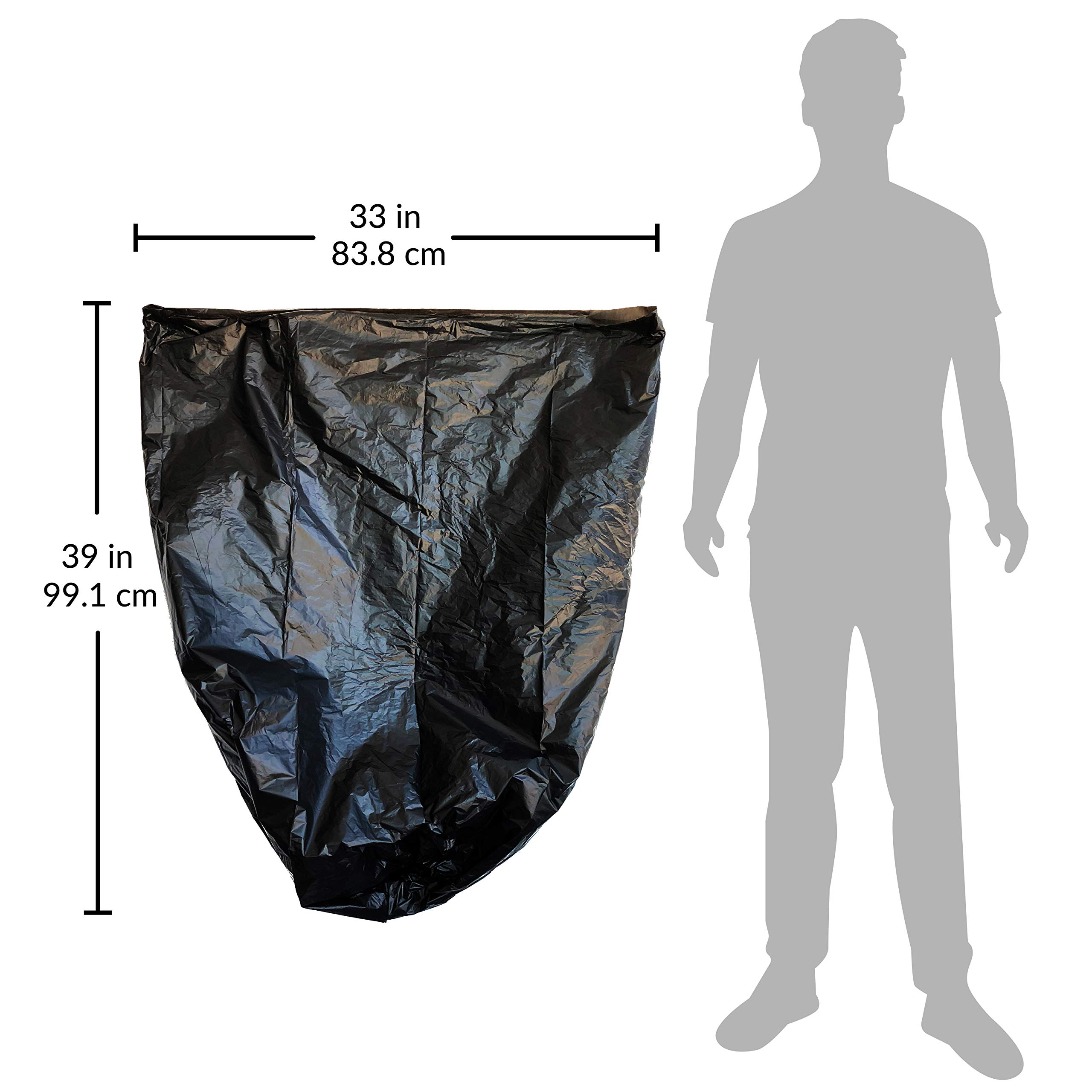 Reli. Recyclable Eco-Friendly Trash Bags, 33 Gallon (150 Count) - Made from Recycled Content (SCS Certified) - Go Green Canliners - Environment-Friendly Garbage Bags (30 Gallon - 35 Gallon) (Black) by Reli. (Image #4)