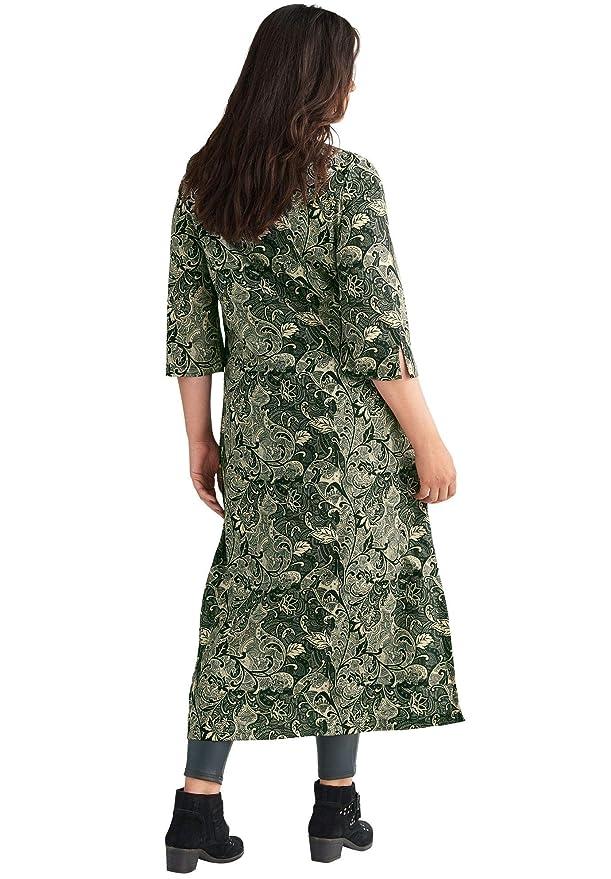 ae4bfc0cab3 Ellos Women s Plus Size Lotus Maxi Dress at Amazon Women s Clothing store