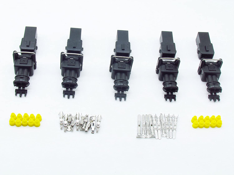 Cnkf 5/set Bosch EV1/3.5/Series 2PIN maschio connettore femmina Plug iniettori