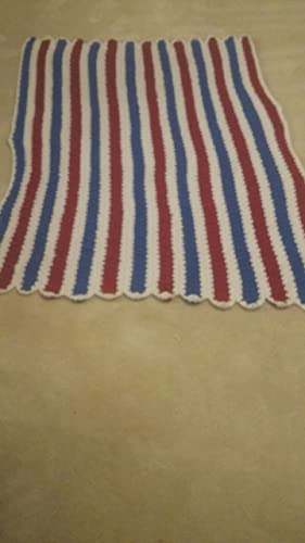 Amazon Patriotic Red White And Blue Afghan Handmade