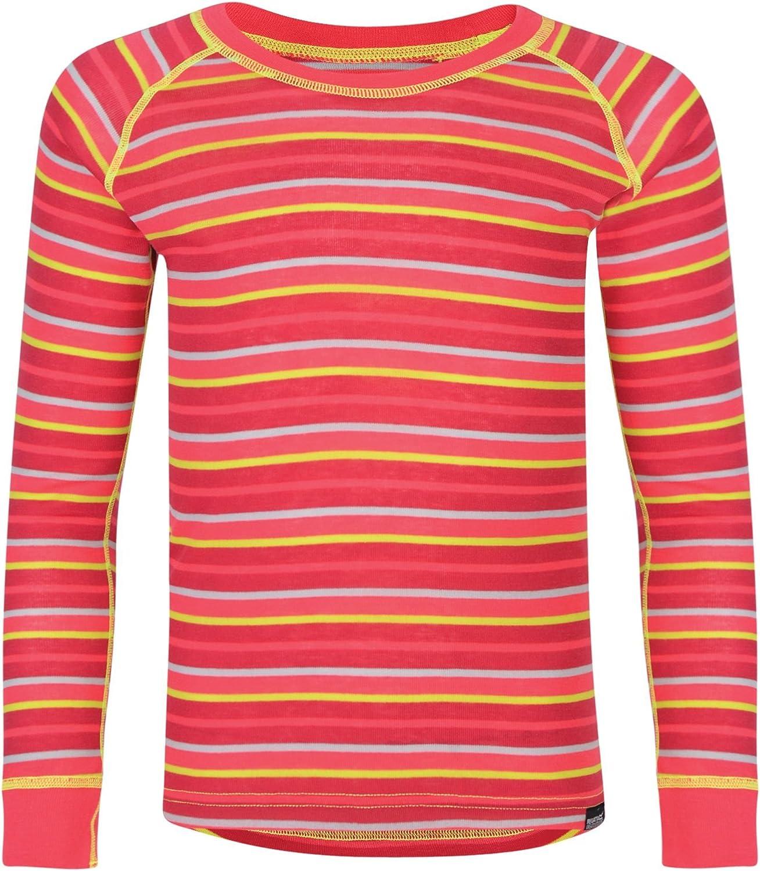 Regatta Great Outdoors Childrens//Kids Elatus Striped Long Sleeve Base Layer Shir