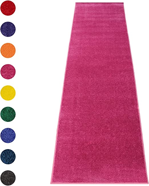 Amazon Com Pink Event Carpet Aisle Runner Quality Plush Pile Rug With Backing Binding In Various Sizes 3 X 10 Ft Pink Kitchen Dining
