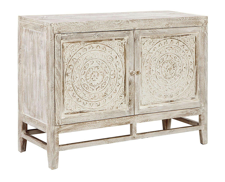 Amazon.com: Ashley Furniture Signature Design - Fossil Ridge 2-Door Accent  Cabinet - Contemporary - Heavy Antiqued White Finish - Hand Carved  Medallion ... - Amazon.com: Ashley Furniture Signature Design - Fossil Ridge 2-Door