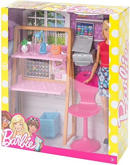 Buy Barbie Doll With Office Setup Online At Low Prices In India