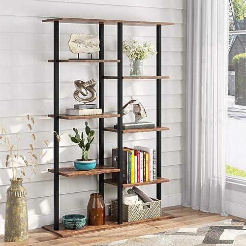 Industrial 5-Tier Bookshelf