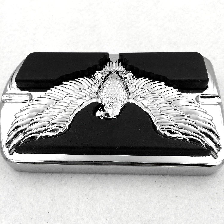 chrome Motorcycle Eagle Hawk Emblem Foot Large Brake Pedal For Harley Electra Glide Softail Dyna