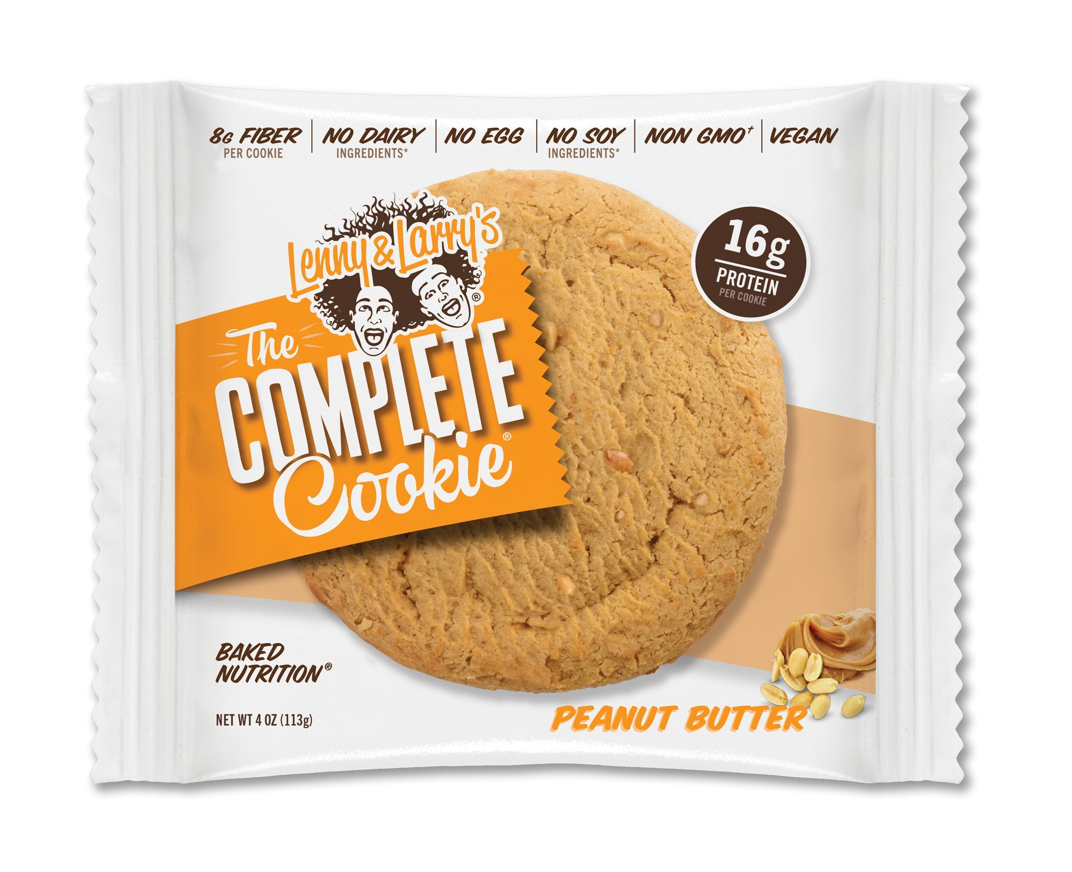 Lenny & Larry's The Complete Cookie, Peanut Butter, 4 Ounce Cookies - 12 Count, Soft Baked, Vegan and Non GMO Protein Cookies by Lenny & Larry's (Image #2)