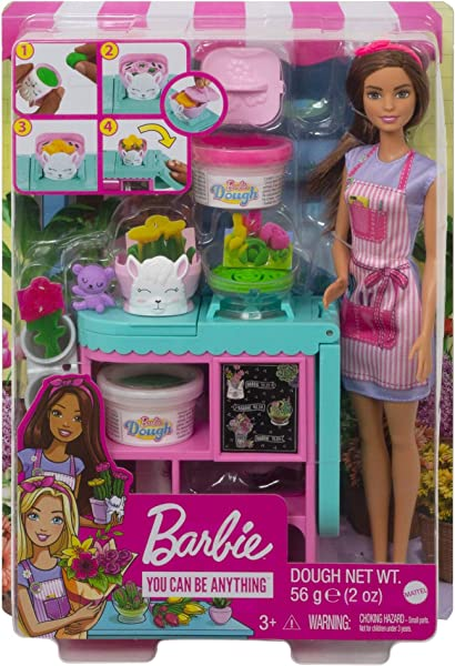 Barbie Florist Playset with fashion doll in package