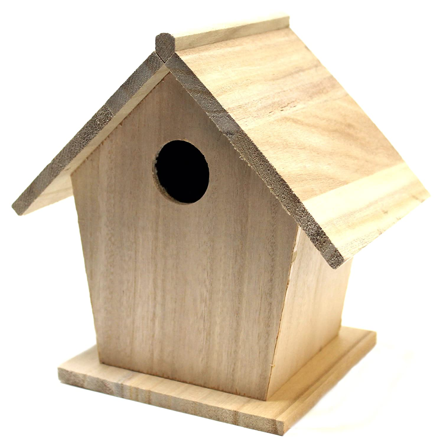 Plaid Wood Surface Birdhouse for Crafting (7 by 7-Inch), 97874 Plaid Inc.
