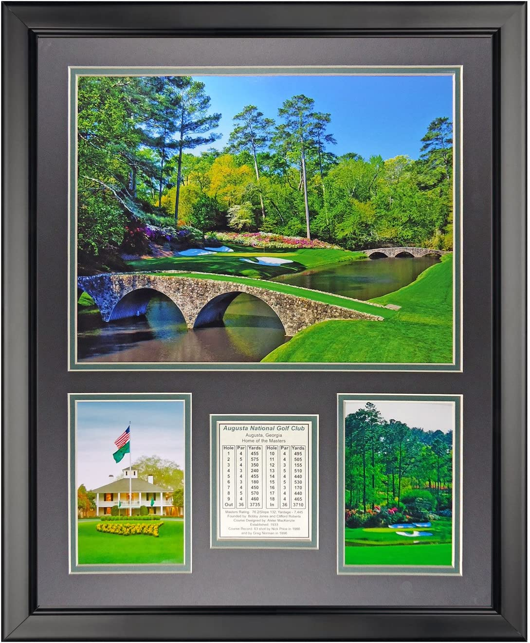 Legends Never Die Augusta National Golf Course- The Masters Collectible | Framed Photo Collage Wall Art Decor - 18