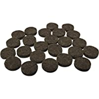 Shepherd Hardware 9958 1/2-Inch Medium Duty Adhesive Felt Furniture Pads, 24-Pack, Brown