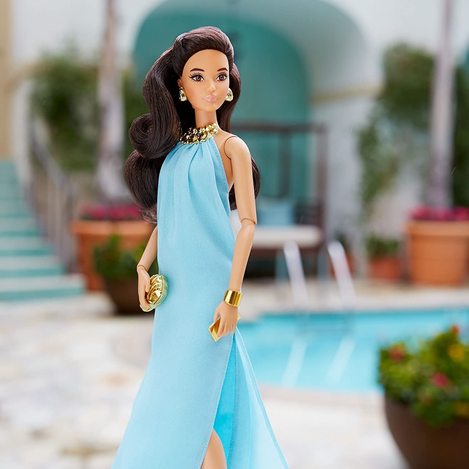 Amazon.com: Barbie Look Collector Barbie Doll - Pool Chic: Toys & Games