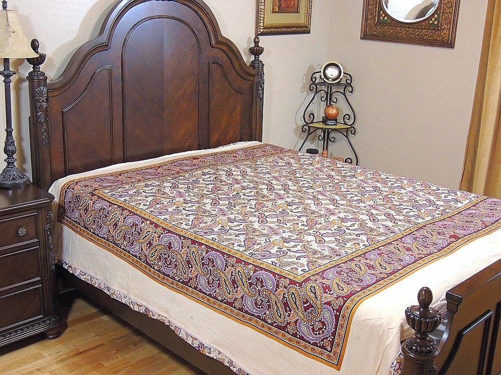 Ethnic Decor Cotton Duvet India Inspired Bedding Floral Paisley Reversible Style ~ Queen by NovaHaat (Image #5)