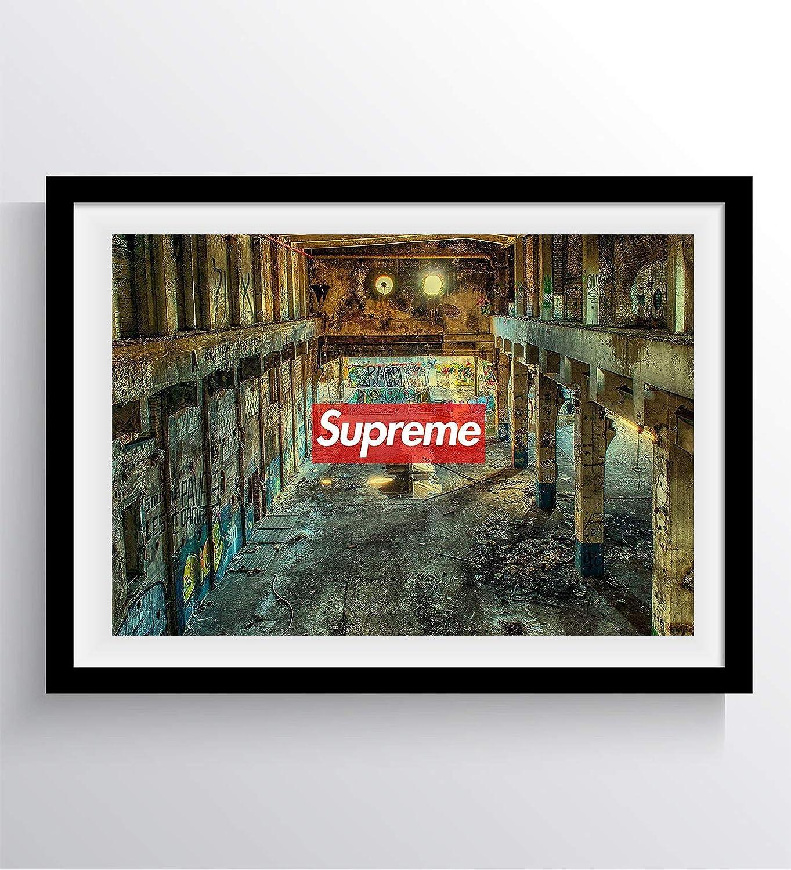 KAWS Companion Black print poster matte urban street Supreme dope