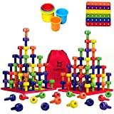Stacking Peg Board Toy Set | JUMBO PACK | Montessori Occupational Therapy Fine Motor Skills for Toddlers and Preschooler…