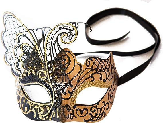 Black Butterfly Fancy Eye Mask Opera Ladies Venetian Fancy Dress Accessory