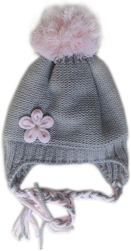 Socksmad Girls Warm Winter Knitted Pom Pom Bobble Beanie Hat 6-10 Years