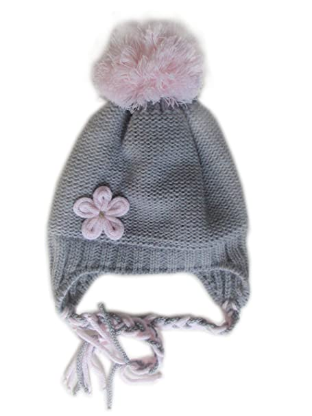 Frost Hats Winter Hat for Girls Warm Winter Beanie Ski Hat Pom Pom Beanie  (Grey 8dd7b35469f