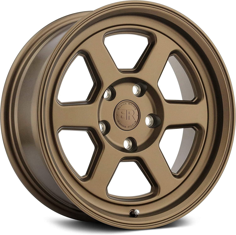 -22 Offset 17 x 8.5 112.1mm Hub 6x139.7 Bolt Pattern Bronze Black Rhino Rumble Custom Wheel