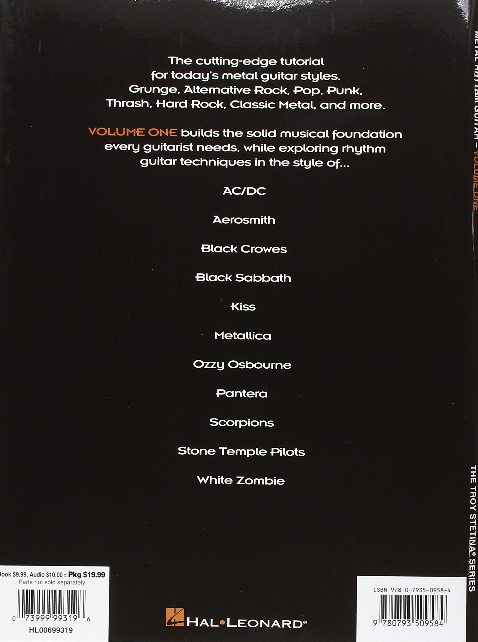 Metal Rhythm Guitar - Volume 1 (Troy Stetina): Amazon.es: Troy Stetina: Libros en idiomas extranjeros