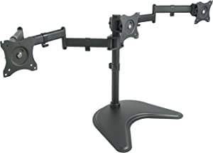 VIVO Triple Monitor Mount Fully Adjustable Desk Free Stand for 3 LCD Screens up to 24 inches (STAND-V003P)