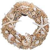 Starfish and Nautilus Seashell Wreath