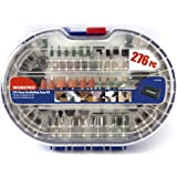 WORKPRO 276pcs Set di Accessori Multiuso per Utensili Rotanti Universali per Taglio, Levigatura, Affilatura, Intaglio e Lucidatura