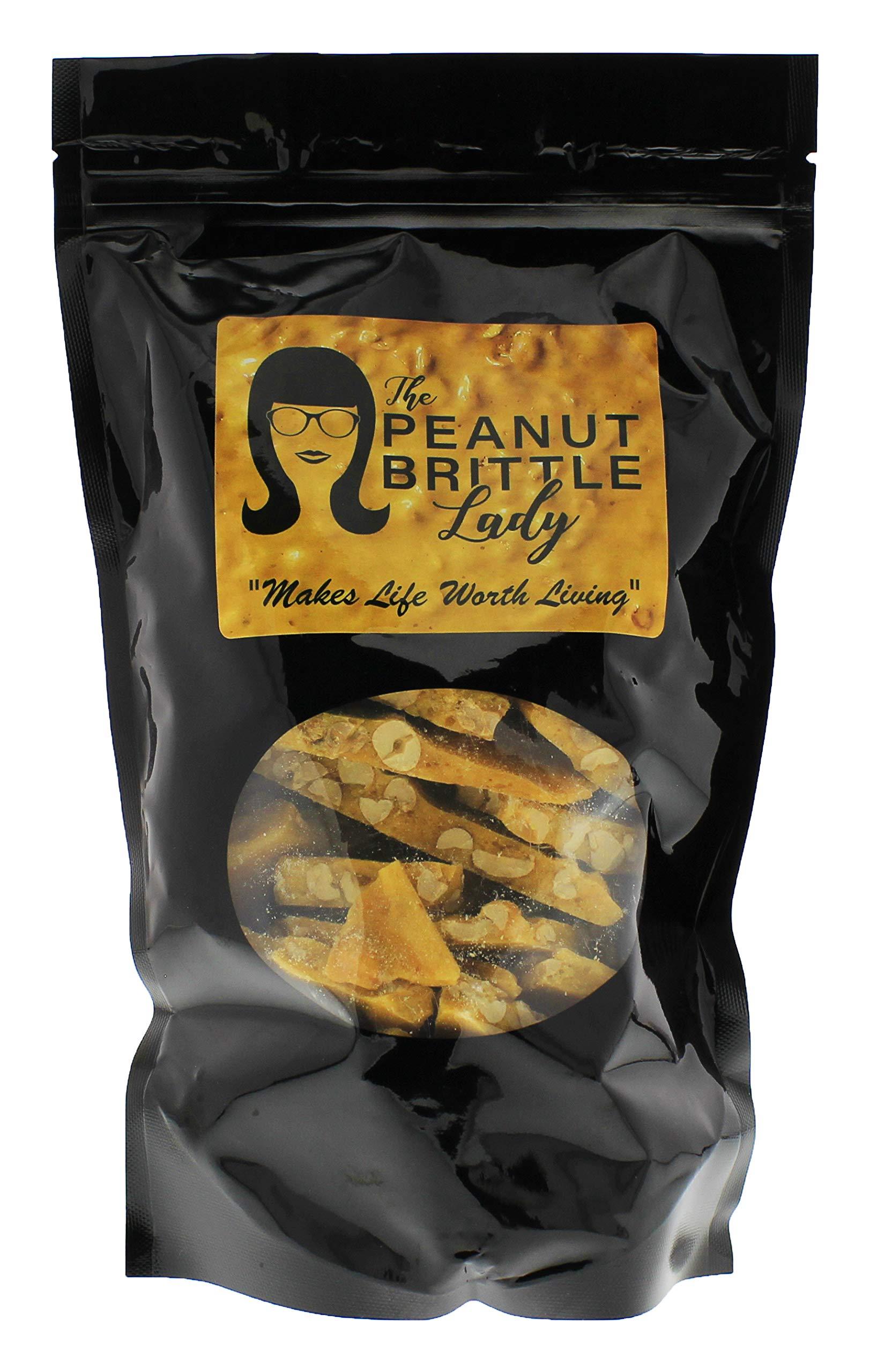 Top Shelf Handmade Gourmet Peanut Brittle Candy, Small Batch, Homemade; Size: Crazy Eight (8 oz)