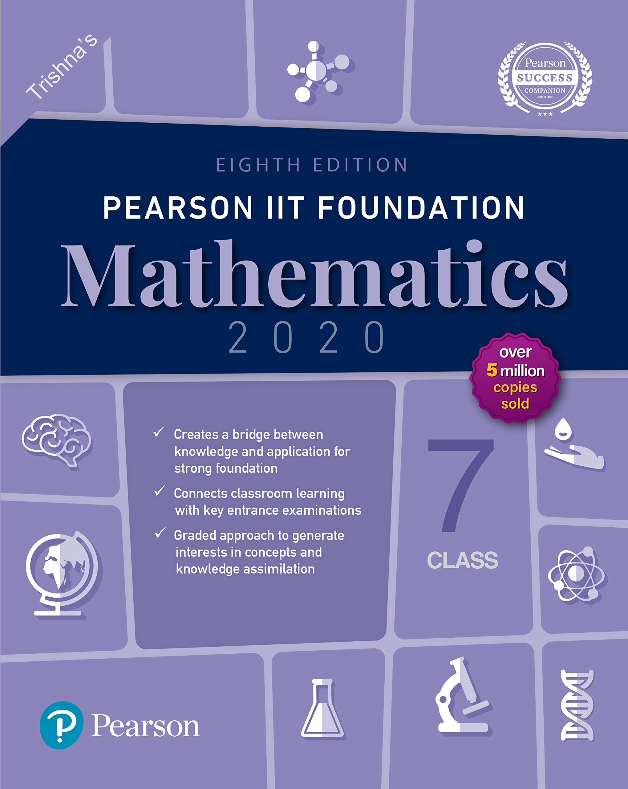 Pearson IIT Foundation Series Class 7 Mathematics|2020 Edition|By Pearson