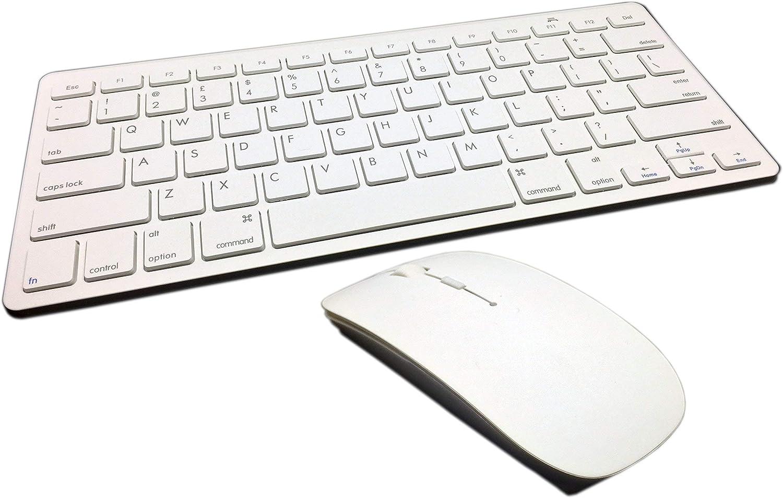 Mini tastiera e mouse wireless 2.4/GHz bianco Combo per Apple iMac MacBook Pro