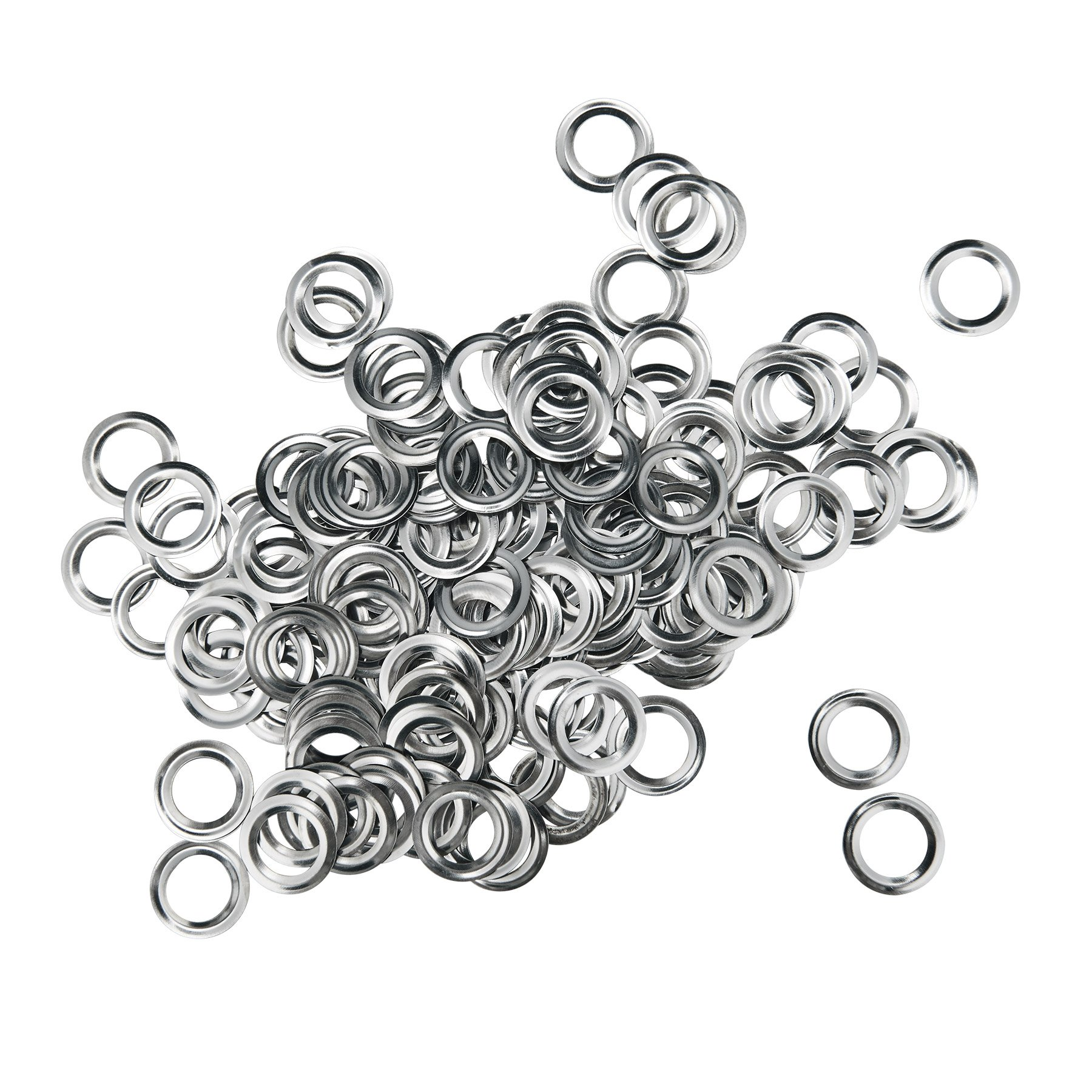Pinty 1000 Grommets + 1000 Washers - Nickel Finish - #2 Size, 3/8'' Eyelets by Pinty (Image #4)