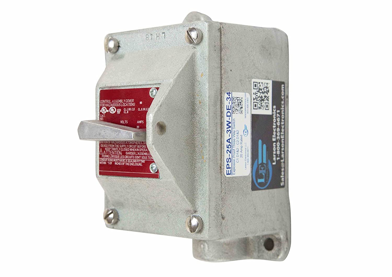 Explosion Proof Three Way Switch - Class I, Div. 1 & 2 - Class II ...