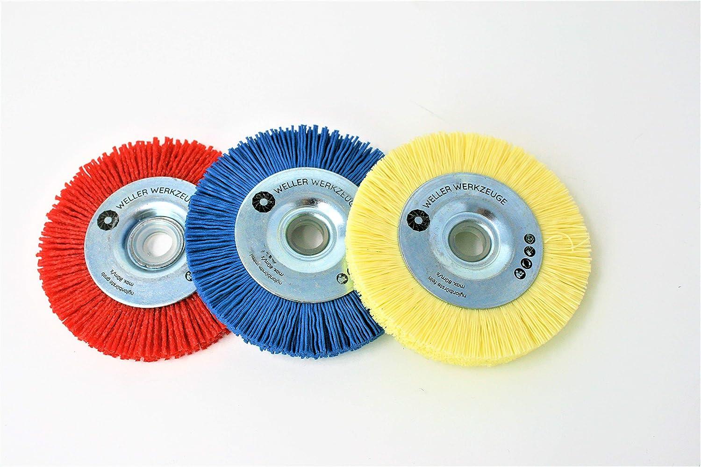 Lot de 3 brosses de nettoyage en nylon pour Bosch GWS 10,8 12 V 76 Accessoires en acier inoxydable et bois