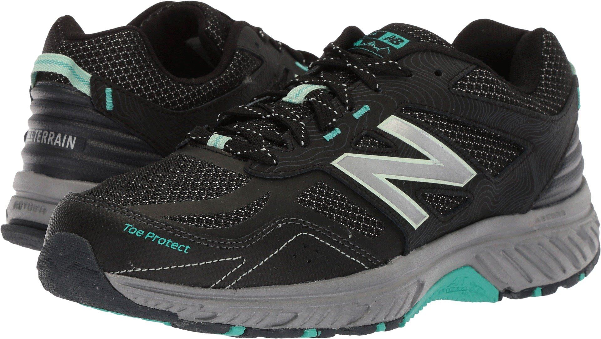 New Balance Women's 510v4 Cushioning Trail Running Shoe, Black, 8.5 D US