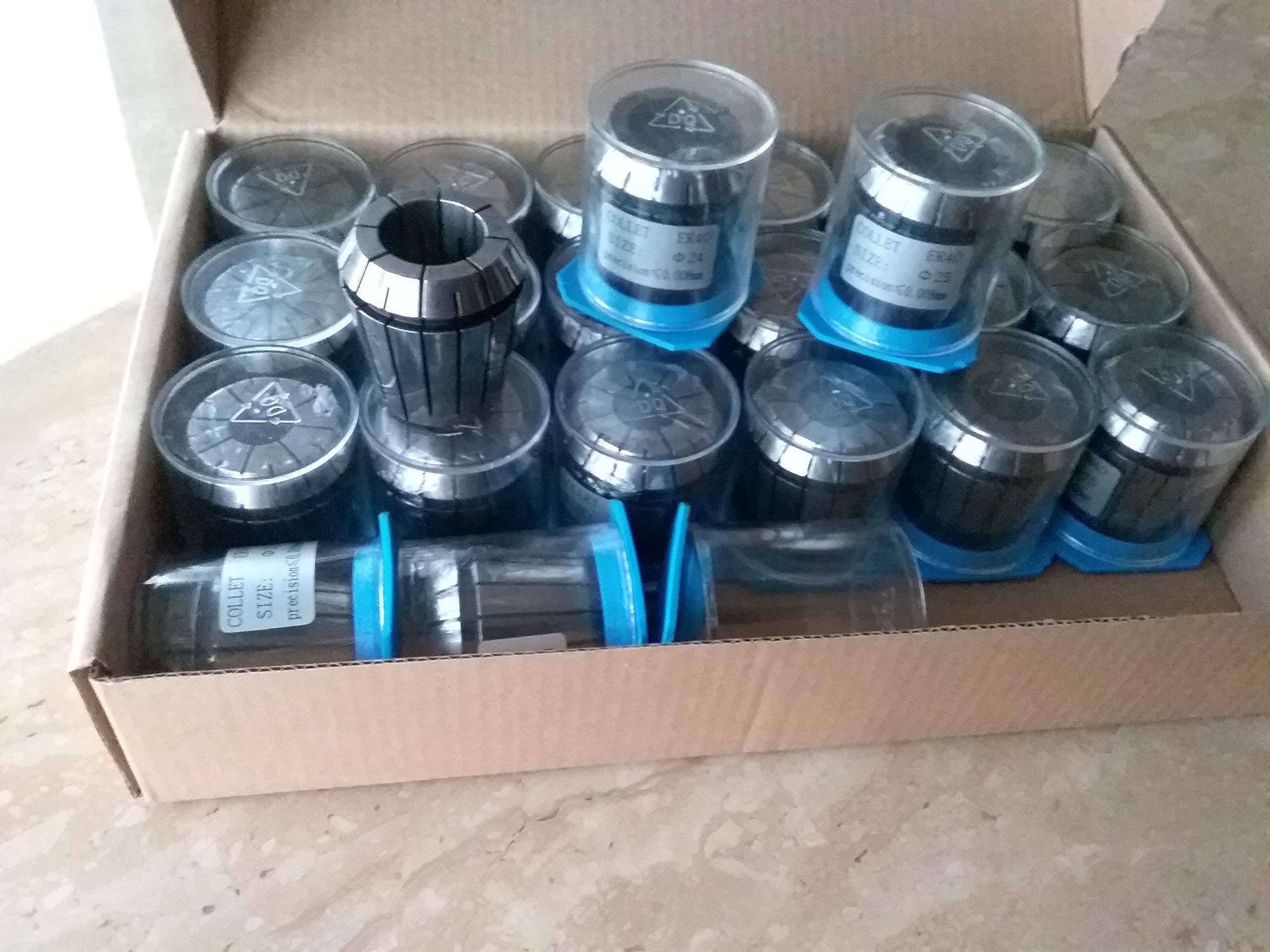 23pcs ER40 Metric Collet Set, collets 4mm - 26mm, 0.008mm TIR #ER40-SET23M-NEW by CME (Image #1)