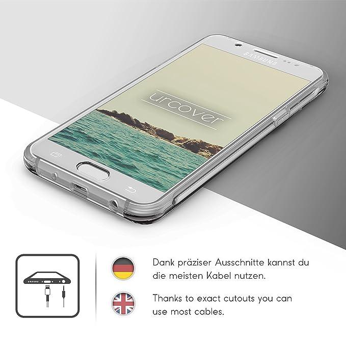 Urcover Funda Compatible con Samsung Galaxy J5 2016 Carcasa Mejorada Cover 360 Grados, edicion Dura, Carga inalámbrica Qi, Case Transparente Crystal ...