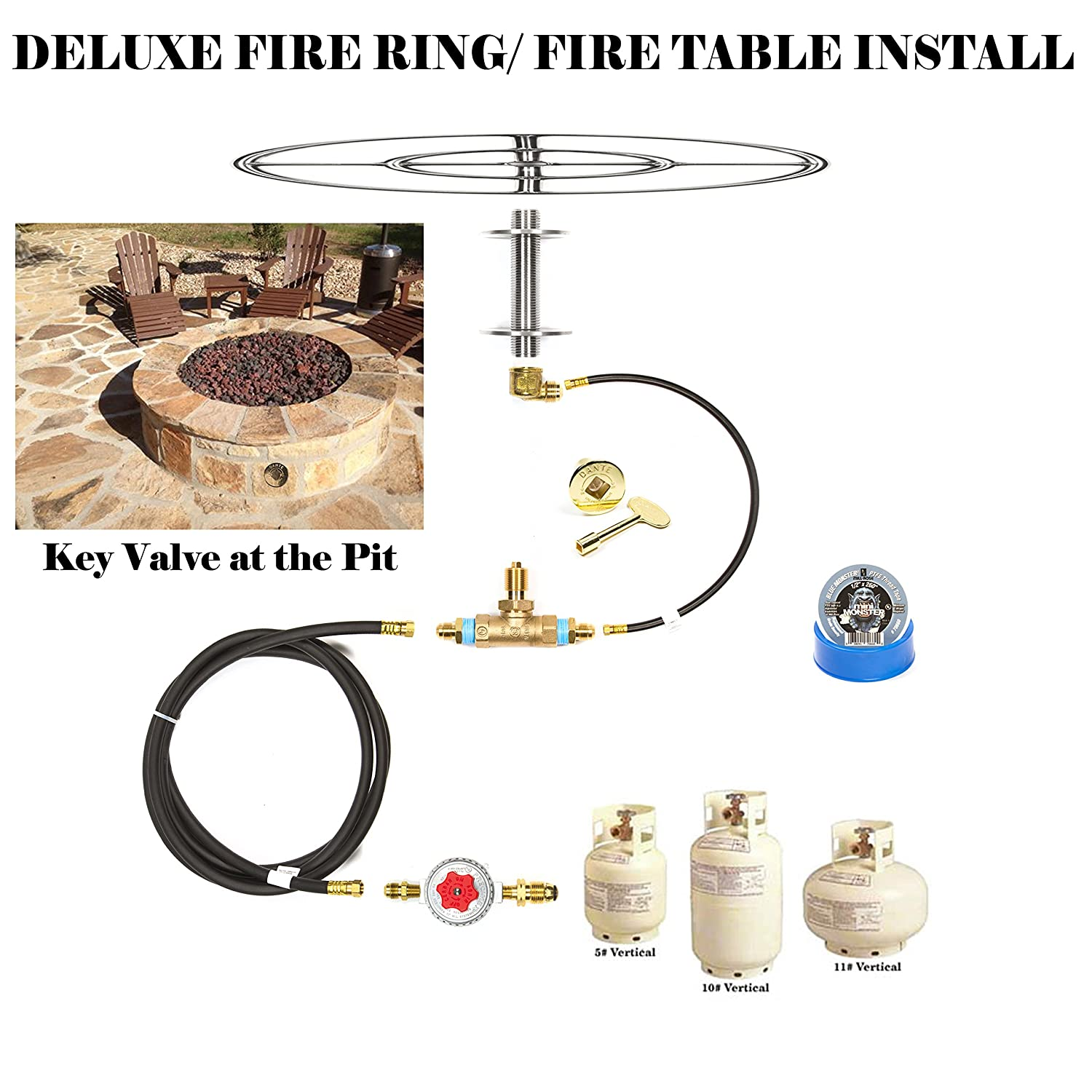 amazon com create convert your wood fire pit to propane diy