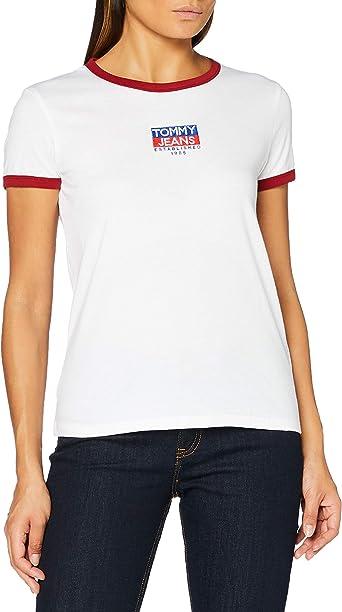 Tommy Hilfiger Tjw Metallic Flag tee Camiseta para Mujer