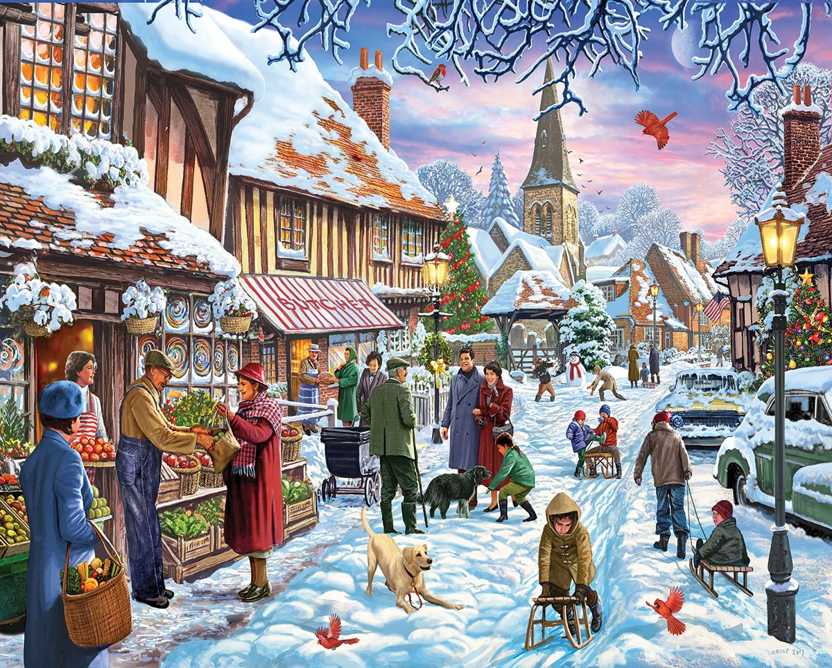 1000 Piece Jigsaw Puzzle Inc White Mountain Puzzles A Nice Dusting 1342