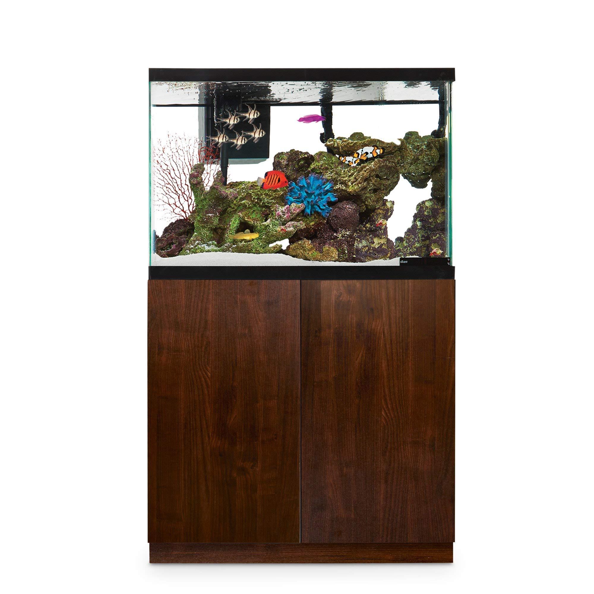 Imagitarium Faux Woodgrain Fish Tank Stand, Up to 40 Gal, 18.25 in, Natural Wood